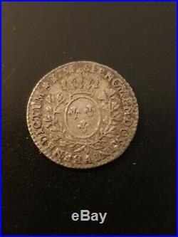1/10 Ecu Au Bandeau Louis XV 1751 A