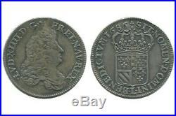 1/2 Ecu Carambole Louis XIV 1686