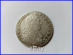 1/2 Ecu De Louis XIV Buste Juvenile 1 Type De 1662 Rennes