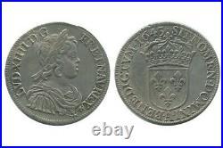 1/2 Ecu à la Mèche Courte Louis XIV 1643