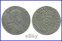 1/2 Ecu à la Mèche Courte Louis XIV 1644