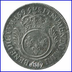 1/2 Ecu aux Palmes Louis XIV 1695