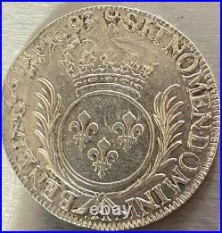 1/2 Ecu aux palmes 1693 A (Paris) Louis XIV reformé sur un 1/2 écu au 8 L 1692