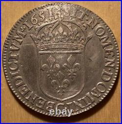 1/2 écu Louis XIV 1651 C