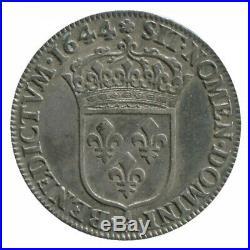 1/4 Ecu à la Mèche Courte Louis XIV 1644