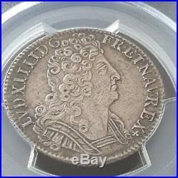1/4 d'écu 1712/1 A aux 3 couronnes, Louis XIV, tres belle qualité