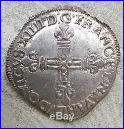 1/4 écu de Navarre 1651 V
