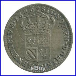 1/8 d'Ecu Carambole Louis XIV 1686