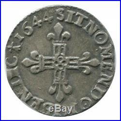 1/8 d'Ecu Louis XIV 1644