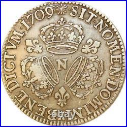 1056639 Rare France Ecu 3 couronnes Louis XIV 1709 N Montpellier Silver Offer