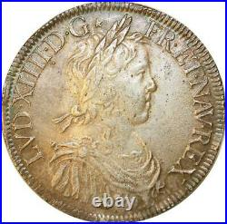 1056693 Rare France Ecu mêche longue Louis XIV 1651 A Paris Silver Make Offer