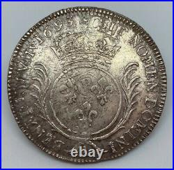 #13520/12 France, Louis XIV, Ecu aux palmes, 1693 A, Paris