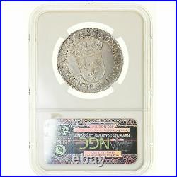 #17 Monnaie, France, Louis XIV, 1/2 Écu à la mèche longue, 1652 N, NGC MS64