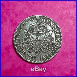 #4 RARE Ecu Louis XIV 3 couronnes 1709 A Paris FACTURE