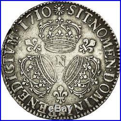 #453932 Monnaie, France, Louis XIV, Écu aux 3 couronnes, 1710, Montp, TTB, KM