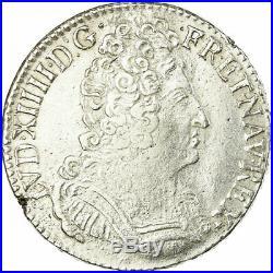 #458597 Monnaie, France, Louis XIV, Écu aux 3 couronnes, Ecu, 1709, Nantes