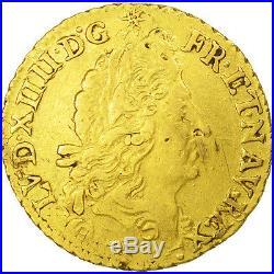 #470529 France, Louis XIV, 1/2 Louis d'or à l'écu, 1692, Lyon, TTB, KM