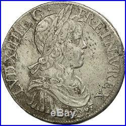 #470654 France, Louis XIV, Écu à la mèche longue, 1652, Paris, TTB, Argent