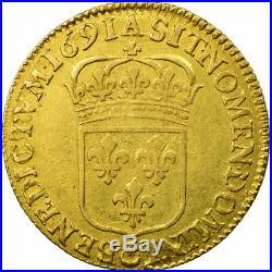 #474399 Monnaie, France, Louis XIV, Louis d'or à l'écu, 1691, Paris, TTB