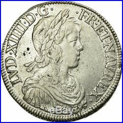 #474532 Monnaie, France, Louis XIV, Écu à la mèche longue, 1652, Rouen
