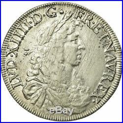 #474533 Monnaie, France, Louis XIV, Ecu, 1669, Bayonne, Juvénile, TB+, Argent