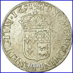 #474630 Monnaie, France, Louis XIV, Écu de Béarn à la mèche longue, 1651