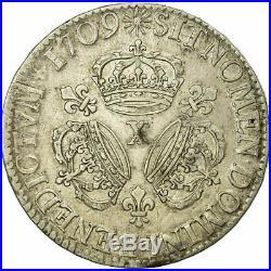 #474643 Monnaie, France, Louis XIV, Écu aux 3 couronnes, Ecu, 1709, Amiens