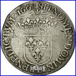 #475058 Monnaie, France, Louis XIV, Écu au buste juvénile, Ecu, 1668
