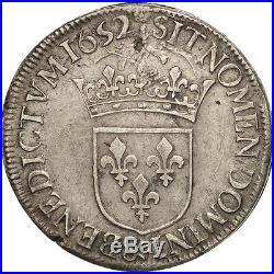 #480484 France, Louis XIV, Écu à la mèche longue, Ecu, 1652, Aix, TTB