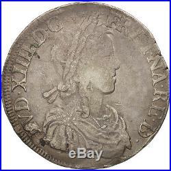 #480486 France, Louis XIV, Écu de Béarn à la mèche longue, 1659, Morlaas