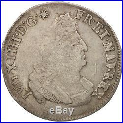 #480492 France, Louis XIV, 1/2 Écu aux insignes, 1701, Aix, TB, KM325.23