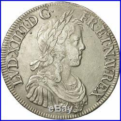 #481076 France, Louis XIV, Écu à la mèche longue, 1649, Paris, TTB, Argent