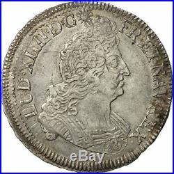 #481091 France, Louis XIV, 1/2 Écu aux insignes, 1702, Dijon, TTB, KM325.15