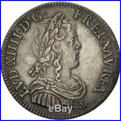 #481295 France, Louis XIV, 1/4 Écu à la mèche longue, 1649, Paris, SUP