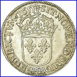 #485594 Monnaie, France, Louis XIV, 1/2 Écu à la mèche longue, 1/2 Ecu