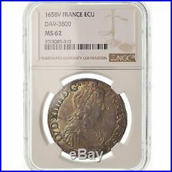 #489249 Monnaie, France, Louis XIV, Écu de Navarre, Ecu, 1658, Saint-Palais
