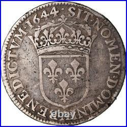 #489432 Monnaie, France, Louis XIV, 1/4 Ecu, 1644, Paris, Piéfort, TB+