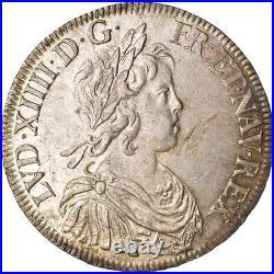 #489465 Monnaie, France, Louis XIV, Écu à la mèche courte, 1644, Paris