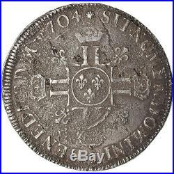 #489544 Monnaie, France, Louis XIV, Écu aux 8 L 2e type, Ecu, 1704, Limoges