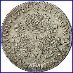 #493097 Monnaie, France, Louis XIV, 1/2 Écu aux 3 couronnes, 1711, Tours