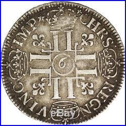 #501975 France, Louis XIV, 1/2 Écu aux 8 L, 1691, Rennes, TTB, Argent