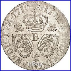 #502088 France, Louis XIV, Écu aux 3 couronnes, 1710, Rouen, TTB+