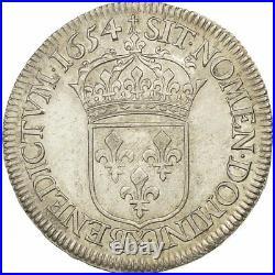 #509010 Monnaie, France, Louis XIV, 1/2 Écu à la mèche longue, 1654