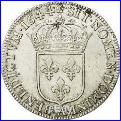 #510646 Monnaie, France, Louis XIV, 1/2 Écu à la mèche courte, 1644, Paris