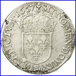 #512218 Monnaie, France, Louis XIV, 1/2 Écu au buste juvénile, 1667
