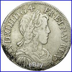 #512223 Monnaie, France, Louis XIV, 1/2 Écu à la mèche longue, 1659