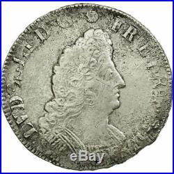 #512241 Monnaie, France, Louis XIV, 1/2 Ecu aux palmes, 1694, Riom, TB+
