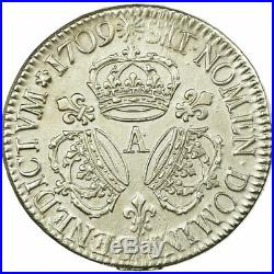 #515061 Monnaie, France, Louis XIV, Ecu aux 3 couronnes, 1709, Paris, TTB