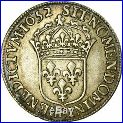 #515457 Monnaie, France, Louis XIV, 1/2 Écu à la mèche longue, 1652, Tours