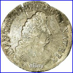 #517406 Monnaie, France, Louis XIV, 1/2 Ecu aux palmes, 1694, Riom, TB+